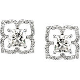 Created Moissanite or Semi-Mount Earrings