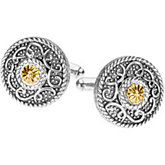 Sterling Silver & 14kt Yellow Gold Cufflinks