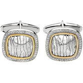 1/2 ct tw Diamond Cuff Links