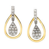 1/4 ct tw Two Tone Diamond Earrings