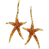 Multicolor Gemstone Starfish Earrings