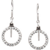 1/5 ct tw Diamond Circle Earrings