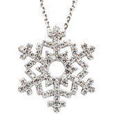 3/8 ct tw Diamond Snowflake Necklace