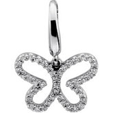 1/5 ct tw Diamond Butterfly Charm