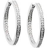 Diamond Inside/Hoop Earrings