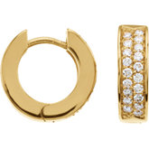 1/3 CTW Diamond Hoop Earrings