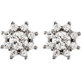 1 3/4 ct tw Diamond Cluster Earrings