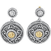 Sterling Silver & 14kt Yellow Gold Earrings
