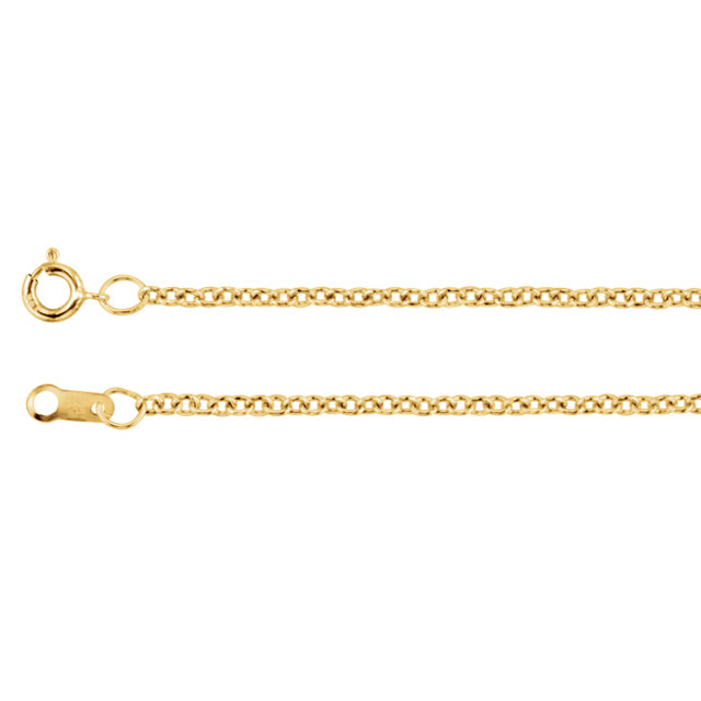 14K Yellow Gold Filled 1.5mm Solid Cable 24