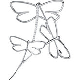 1/5 ct tw Diamond Dragonfly Brooch