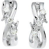 1/8 ct tw Diamond Hoop Earrings