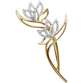 5/8 ct tw Two Tone Diamond Brooch