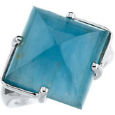 Ring for Square Cabochon Gemstone
