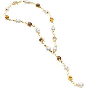 Aquarella® South Sea Cultured Pearl & Gemstone Necklace