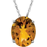 Genuine Citrine Pendant