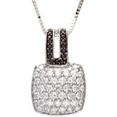 1 1/4 c tw Black & White Diamond Necklace