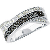 1/2 ct tw Black & White Diamond Ring