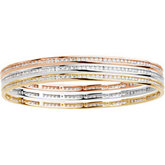 2 1/4 ct tw Stackable Diamond Bangle Bracelet