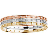 3/4 ct tw Stackable Diamond Bangle Bracelet
