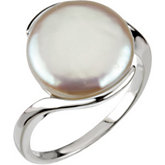 Freshwater Cultured Coin Pearl Ring