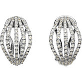 1 ct tw Diamond Earrings