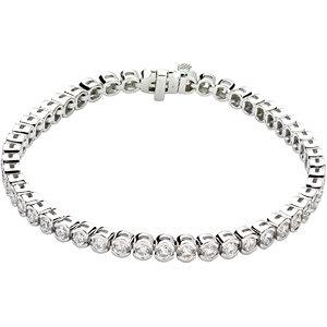 "14K White 6 CTW Diamond Line 7.25"" Bracelet"