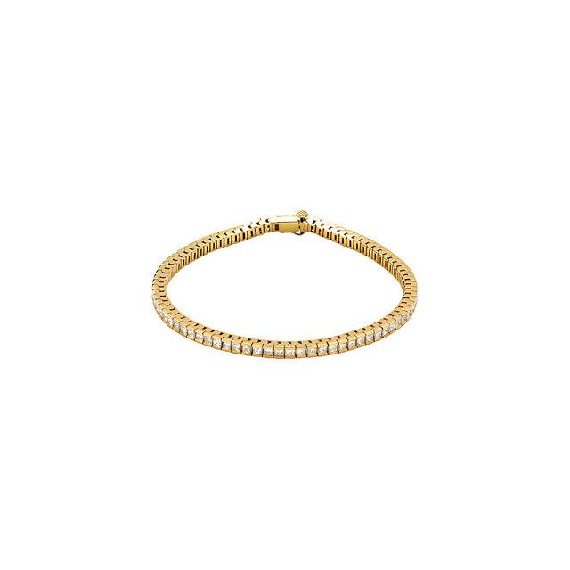 Yellow Gold Diamond Line Tennis Bracelet