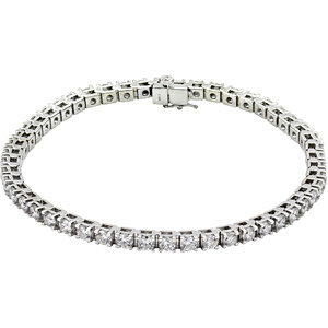 "14K White 4 1/2 CTW Diamond Line 7.25"" Bracelet"