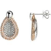 1 5/8 ct tw Interchangable Diamond Earrings
