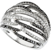 1 ct tw Black & White Diamond Ring