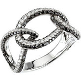 1 5/8 ct tw Black & White Diamond Ring