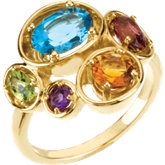 Ring Mounting for Multi-Shaped Gemstones