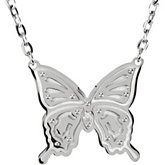 Butterfly Necklace on a Cable Chain