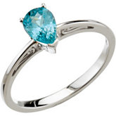 Genuine Blue Zircon Ring