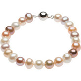Freshwater Cultured Multi-Color Pearl Bracelet or Necklace