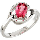 Genuine Pink Tourmaline Ring