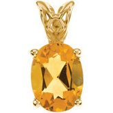 Genuine Citrine Pendant or Necklace