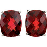 Genuine Mozambique Garnet Earrings