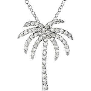 Diamond Palm Tree Necklace