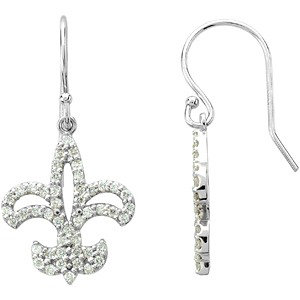 Diamond Fleur-de-lis<br> Earrings