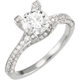 Semi Set Engagment Ring or Matching Band