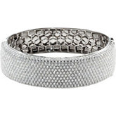 15 1/4 ct tw Diamond Bangle Bracelet