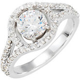 Semi-Mount Engagement Ring or Band