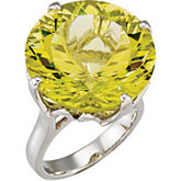 Genuine Green Gold Quartz Ring