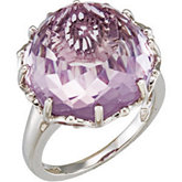Genuine Rose De France Quartz Ring