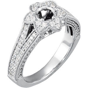 14kt White 1/6 ATW Diamond Band