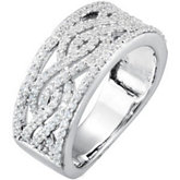 3/4 ct tw Infinity-Inspired Diamond Anniversary Band