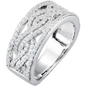 Diamond Infinity-Inspired Anniversary Band