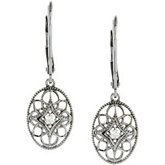 .06 ct tw Diamond Lever Back Earrings