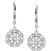 .07 ct tw Diamond Lever Back Earrings